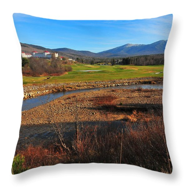White Mountains Scenic Vista Throw Pillow by Catherine Reusch  Daley