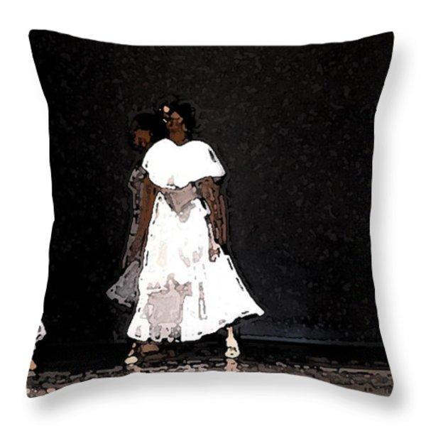 White Rain Throw Pillow by George Gadson