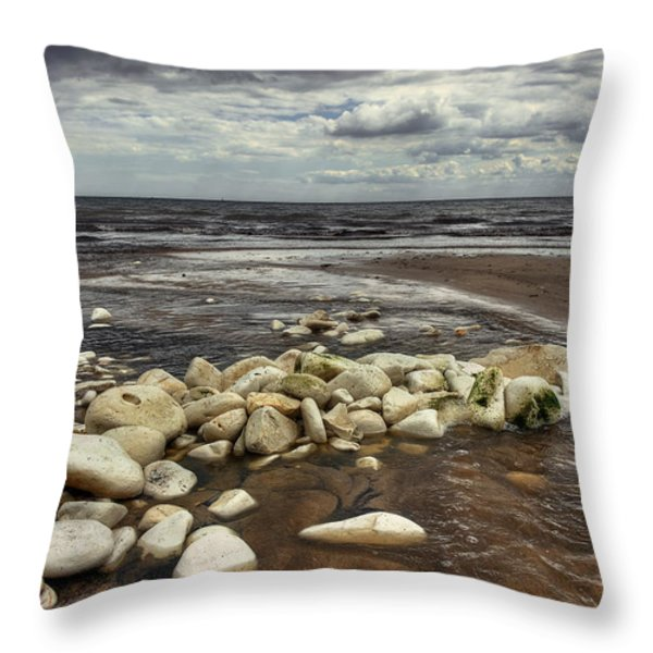 White Rocks Throw Pillow by Svetlana Sewell