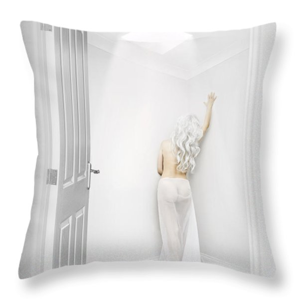 White Room Throw Pillow by Svetlana Sewell