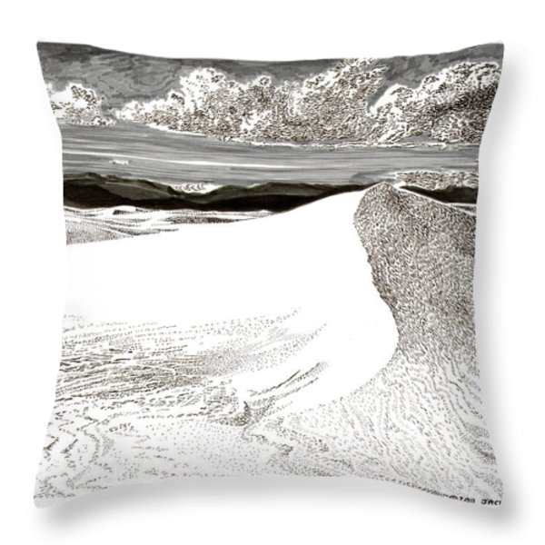 White Sands New Mexico Throw Pillow by Jack Pumphrey