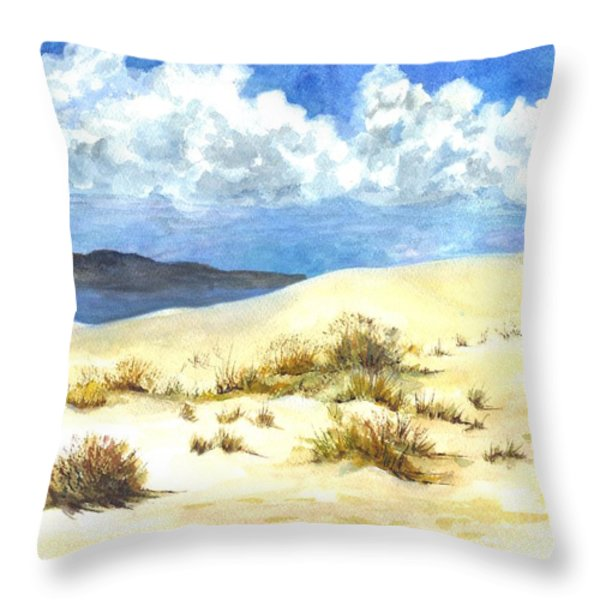White Sands New Mexico U S A Throw Pillow by Carol Wisniewski