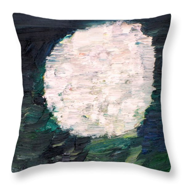 White Sphere Throw Pillow by Fabrizio Cassetta