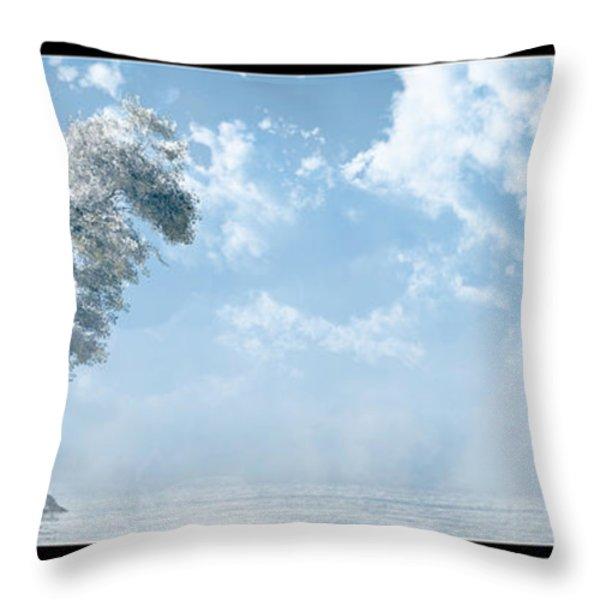 White Tree... Throw Pillow by Tim Fillingim