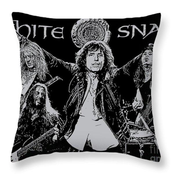 Whitesnake No.01 Throw Pillow by Unknow