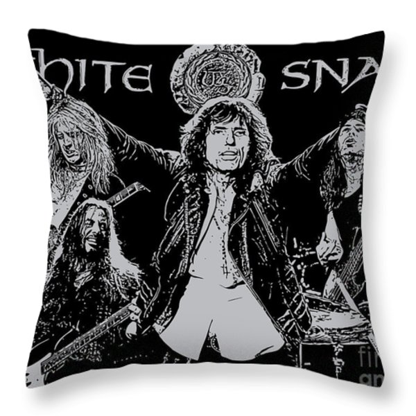 Whitesnake No.01 Throw Pillow by Caio Caldas