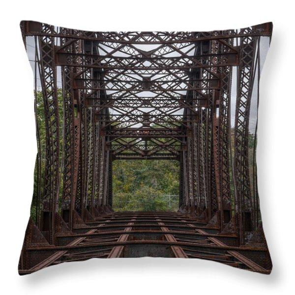 Whitford Railway Truss Bridge Throw Pillow by Richard Reeve