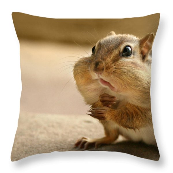 Who Me Throw Pillow by Lori Deiter