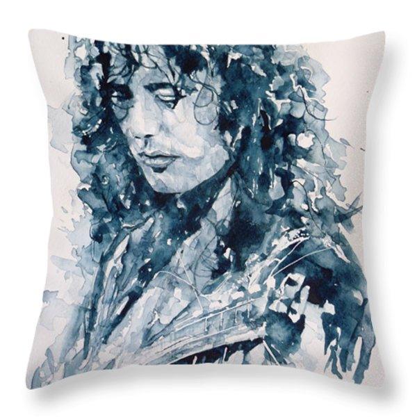 Whole Lotta Love Jimmy Page Throw Pillow by Paul Lovering