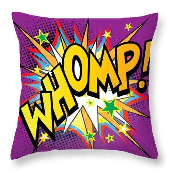 Whomp Throw Pillow by Gary Grayson