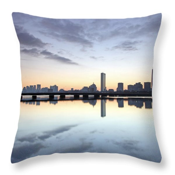 Why So Quiet Boston Throw Pillow by Juergen Roth