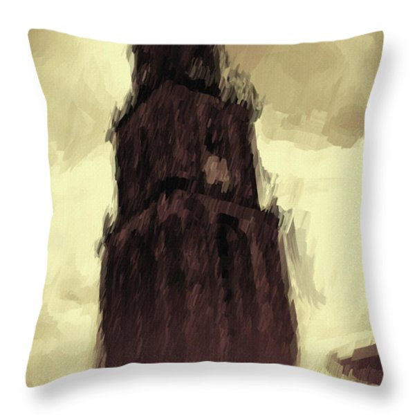 Wicked Tower Throw Pillow by Ayse Deniz