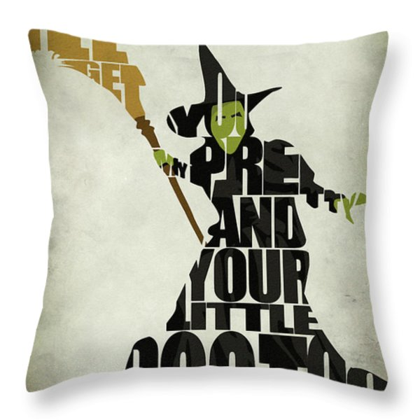 Wicked Witch of the West Throw Pillow by Ayse Deniz