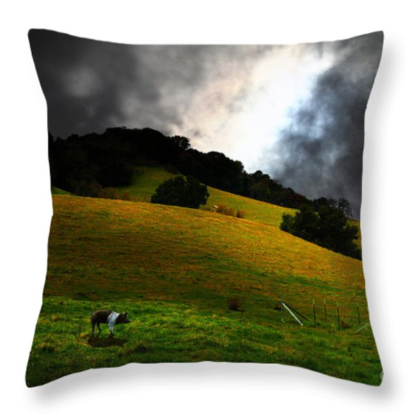 Wilbur The Pig Goes Home - 5D21059 Throw Pillow by Wingsdomain Art and Photography