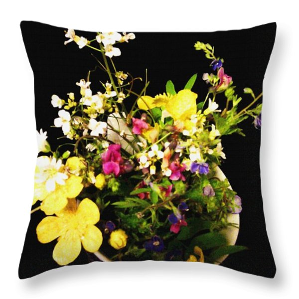 Wild and Beautiful Throw Pillow by Martin Howard