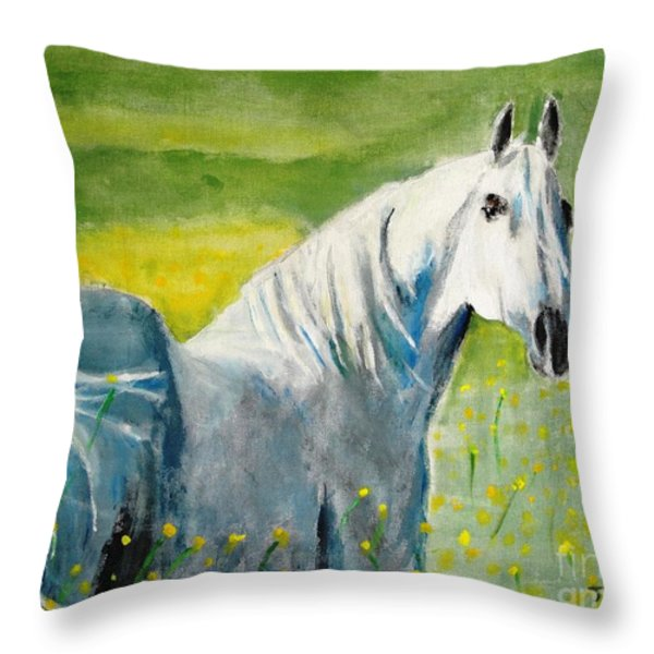 Wild As The Wind Throw Pillow by Judy Kay