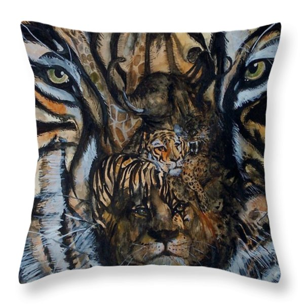 Wild Throw Pillow by Laneea Tolley