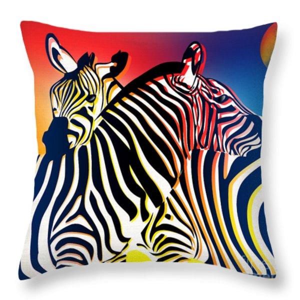 Wild Life 2 Throw Pillow by Mark Ashkenazi