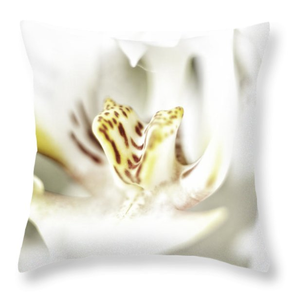 Wild Orchid Throw Pillow by Erik Brede