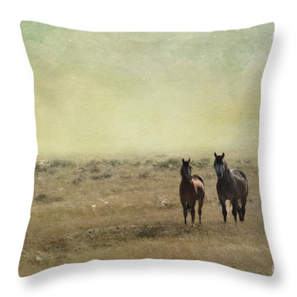 Wild Pair Throw Pillow by Juli Scalzi