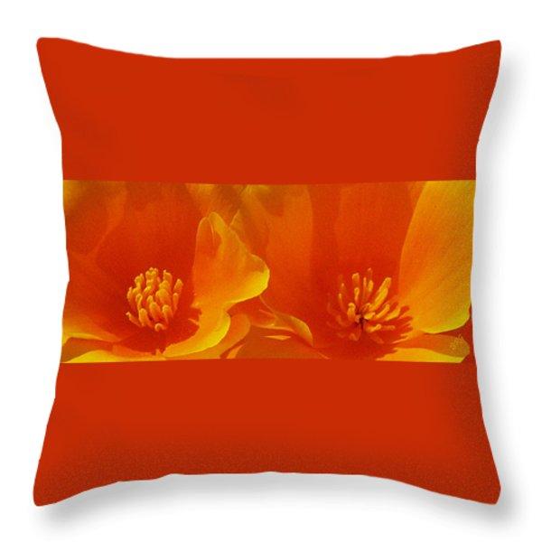 Wild Poppies Throw Pillow by Ben and Raisa Gertsberg
