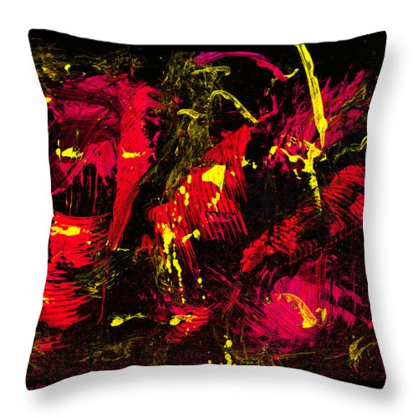 wild times - black Throw Pillow by Manuel Sueess