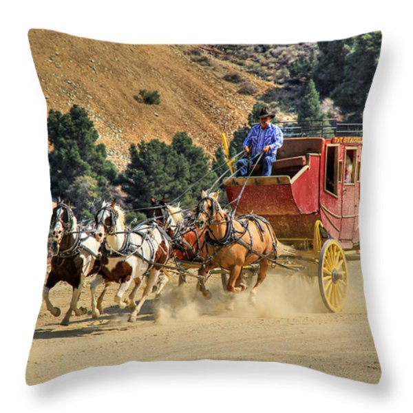 Wild West Ride 2 Throw Pillow by Donna Kennedy