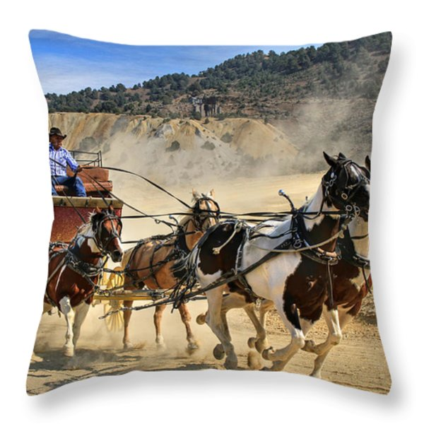 Wild West Ride Throw Pillow by Donna Kennedy