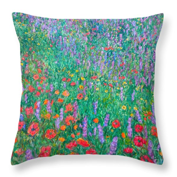 Wildflower Current Throw Pillow by Kendall Kessler
