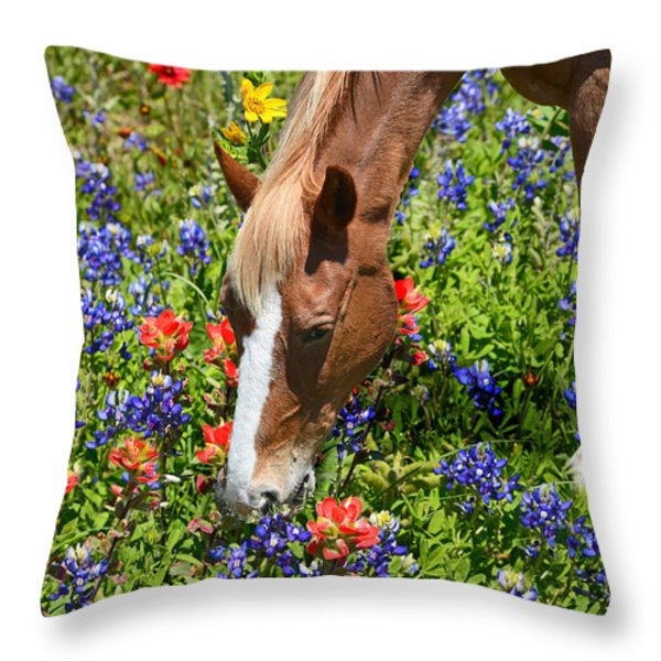 Wildflower Feast Throw Pillow by Lynn Bauer