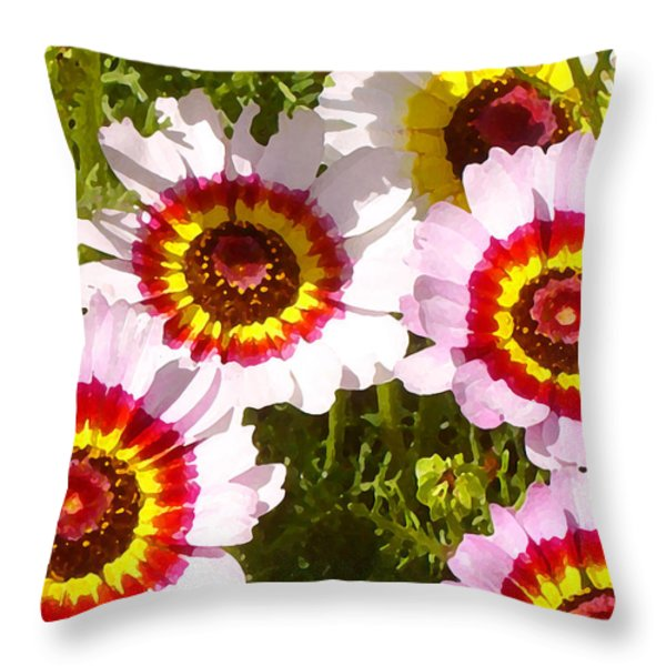 Wildflowerd Wide 1 Throw Pillow by Amy Vangsgard