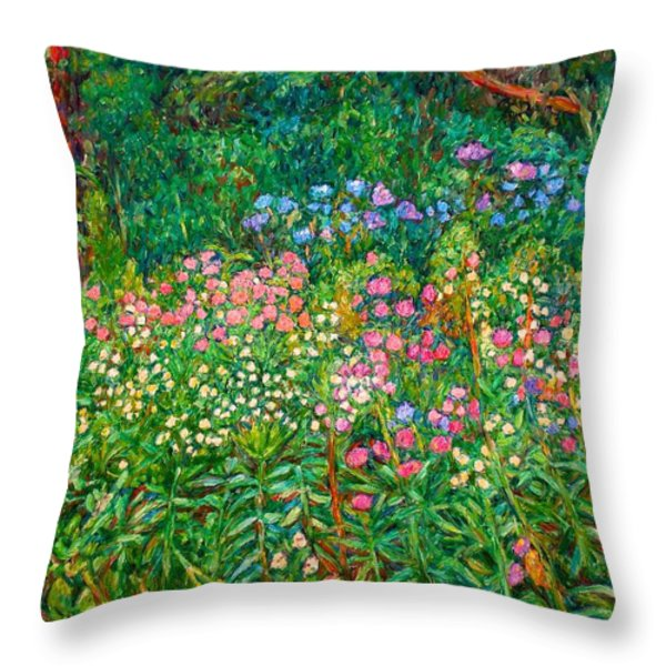 Wildflowers Near Fancy Gap Throw Pillow by Kendall Kessler