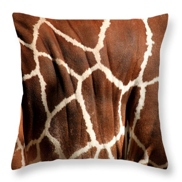 Wildlife Patterns  Throw Pillow by Aidan Moran