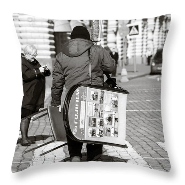 Will Cell Phones Cameras Hurt Photography? - Featured 3 Throw Pillow by Alexander Senin
