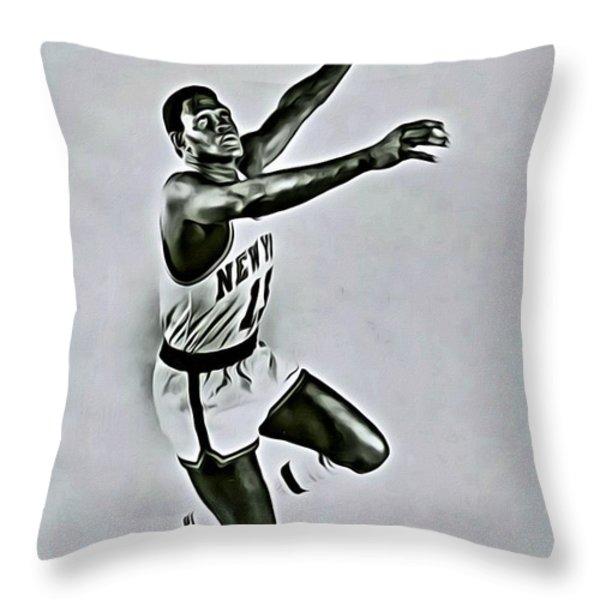 Willis Reed Throw Pillow by Florian Rodarte