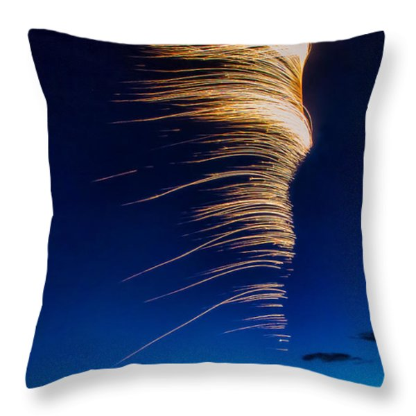 Wind As Light Throw Pillow by Michele Steffey