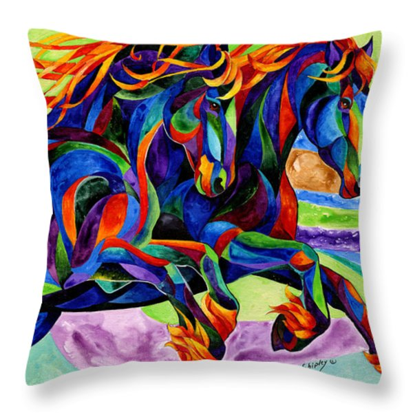 Wind Dancers Throw Pillow by Sherry Shipley
