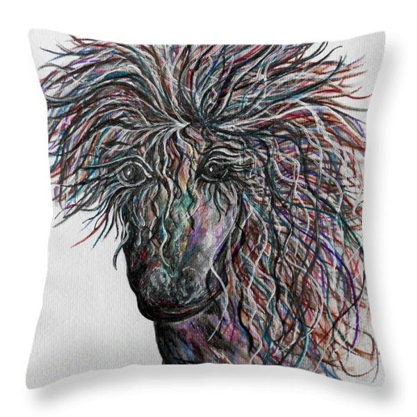 Wind Throw Pillow by Eloise Schneider