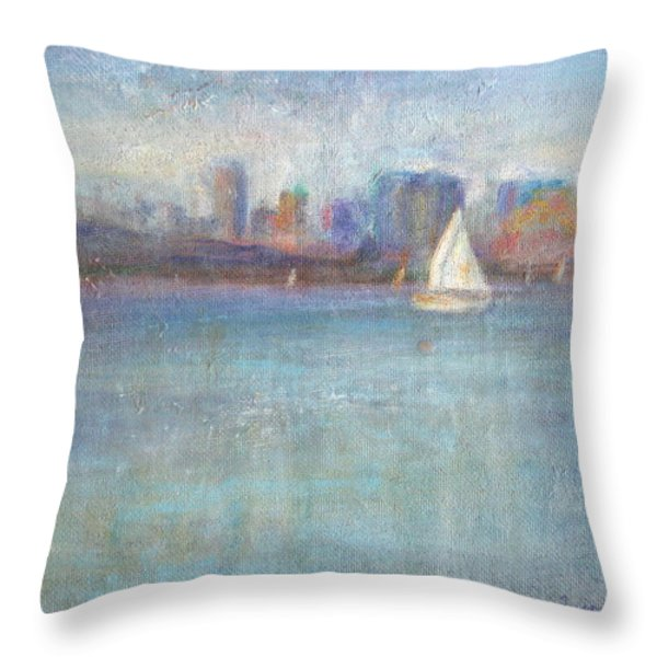 Wind In My Sails Throw Pillow by Quin Sweetman
