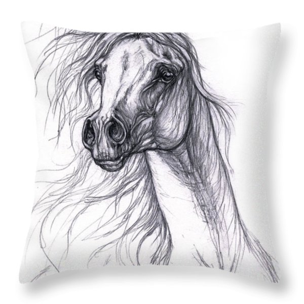 wind in the mane 2 Throw Pillow by Angel  Tarantella