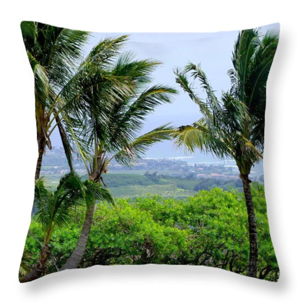 Wind Over Kalaheo Throw Pillow by Mary Deal