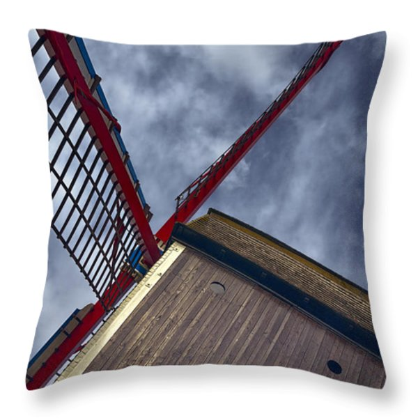 Wind Power Throw Pillow by Joan Carroll