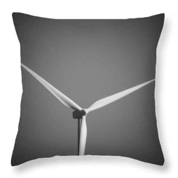 Wind Turbine Throw Pillow by Wim Lanclus