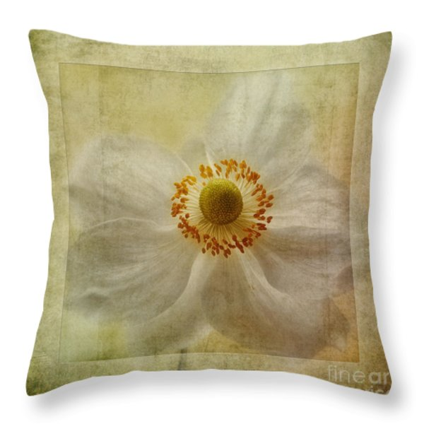 Windflower Textures Throw Pillow by John Edwards