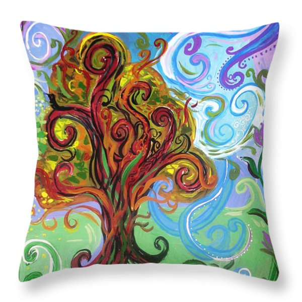 Winding Tree Throw Pillow by Genevieve Esson
