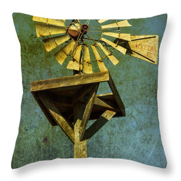 Windmill Abstract Throw Pillow by Garry Gay