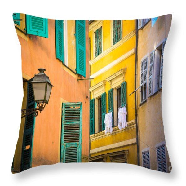 Window Cornucopia Throw Pillow by Inge Johnsson