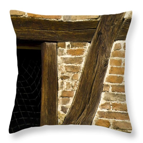 Window Frame Detail 1 Throw Pillow by Heiko Koehrer-Wagner