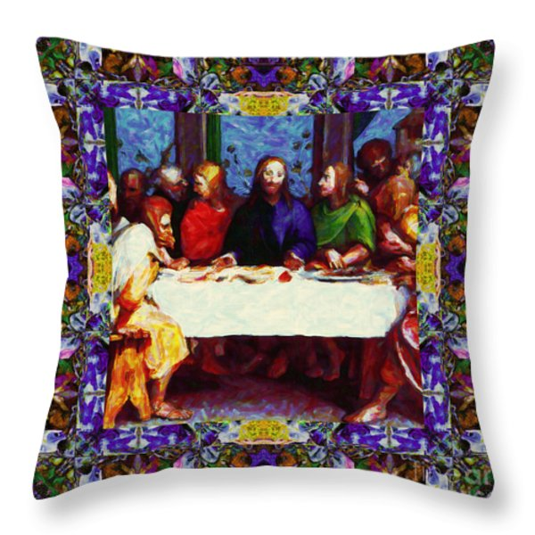 Window Into The Last Supper 20130130p28 Throw Pillow by Wingsdomain Art and Photography
