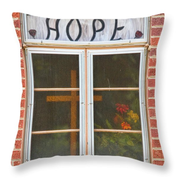 Window Of Hope 2 Throw Pillow by James BO  Insogna